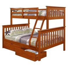 Donco Kids Twin Over Full Mission Bunk Bed   Hayneedle