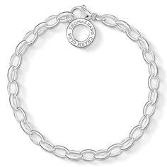 Charm-Silberarmband in 925er Sterlingsilber. Die Anzahl der zu befestigenden Charm-Anhänger liegt in Ihrem eigenen Ermessen. (Breite: 0,5 cm)