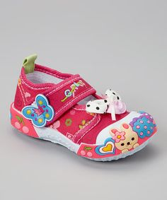 Another great find on #zulily! Chulis Footwear Fuchsia Bunny & Bow Sneaker by Chulis Footwear #zulilyfinds