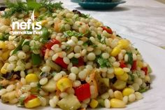 Colorful Wonderful Couscous Salad - Delicious Recipes - Food & Drink that I love - French Zucchini Patties, Couscous Salad Recipes, Turkish Recipes, Ethnic Recipes, Recipe Master, Dried Figs, Salad Ingredients, Meatball Recipes, Fried Rice