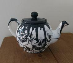 Skull Drip Ceramic Teapot by WWCeramicsUK on Etsy