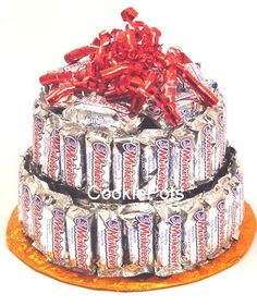 Gifts on pinterest candy bar cakes candy cakes and candy bouquet