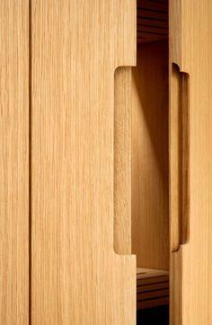 Interior design - porte - ouverture - poignée - bois - découpe