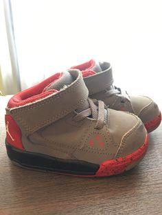 fe9191b0a1f Nike Kids  Toddler Air Jordan FLIGHT ORIGIN BT Sz 5c Grey Black Red