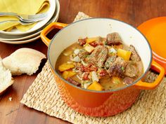 Get this all-star, easy-to-follow Beef and Butternut Squash Stew recipe from Giada De Laurentiis
