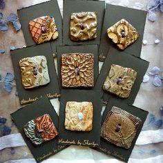 Square ceramic buttons