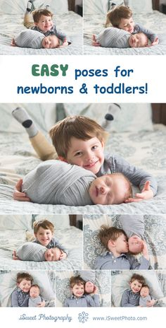 Easy poses for newborns and toddlers together! Great for sibling and family photos. These poses are safe and simple for your newborn and baby photos. Photos by Boston newborn photographer, Isabel Sweet of iSweet Photography Newborn Sibling Photos, Newborn Baby Photos, Newborn Poses, Newborn Shoot, Newborn Pictures, Baby Boy Newborn, Baby Pictures, Newborns, Baby Baby