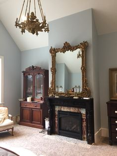 New very old Rococo mirror in the master bedroom