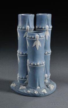 Wedgwood Solid Blue Jasper Bamboo Spill Vase, England, late 18th century
