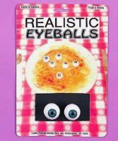 Realistic Eyeballs (Pack of Halloween Supplies, Thing 1, Packing, Bag Packaging