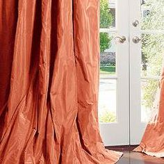 coral silk curtains - Google Search