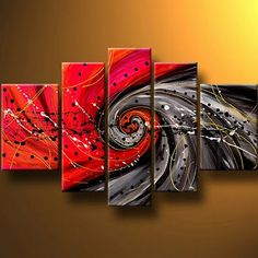Abstract Painting, Red Canvas Painting, Wall Art Set, Extra Large Art, 5 Pannel Wall Painting - Silvia Home Craft Buy Paintings Online, Canvas Paintings For Sale, Oil Paintings, Online Painting, Landscape Paintings, Modern Paintings, Abstract Paintings, Abstract Landscape, 5 Panel Wall Art