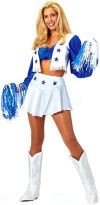 Sexy Dallas Cowboys Cheerleader Costume Price: $45.40