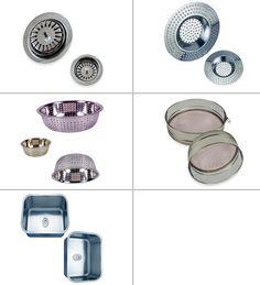 Stainless Steel Wash Basin Sink Strainers SS Sieves #StainlessSteelWash #BasinSinkStrainers #SSSieves Brass Door Knocker, Brass Hinges, Brass Hardware, Basin Sink, Copper, Stainless Steel, Glass