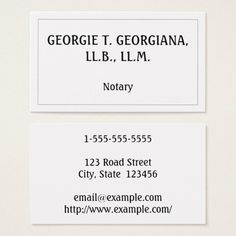 Elegant and Minimal Notary Business Card