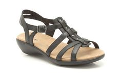 a64f9518cef24 Womens Casual Sandals - Roza Jaida in Black Leather from Clarks shoes