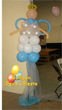 Angelito con globos niño
