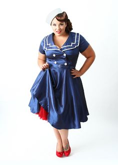 Plus Size Costumes For Women | plus size sailor dress from Domino Dollhouse