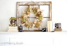 decorating summer mantle | Found on craftberrybush.com