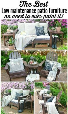 Recycled Outdoor Furniture & Our New Back Patio - lovely spring patio inspiration.