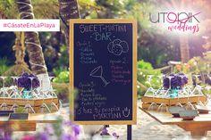Una idea divertida que hará sentir a tus invitados especiales, es la opción de que puedan personalizar sus bebidas en una barra ¡Pruébalo y verás que les encanta! #UtopikWeddings #Love #Beach #Weddings #CásateEnLaPlaya #Utopik