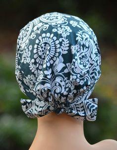 The MINI Scrub Hat Chemo Cap World Bazaar by thehatcottage on Etsy