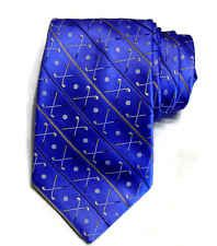 Tropicals by Tango Golf Club Design Tie Ice Blue Silk Necktie Golfing