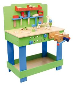 kinder werkzeugbank bauanleitung zum selber bauen holzspielzeug pinterest kinder. Black Bedroom Furniture Sets. Home Design Ideas