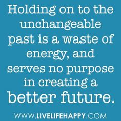 Let go for a better future.