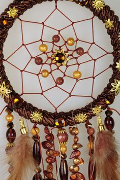 Dreamcatcher gold aventurine Dream Catcher Large Dreamcatcher New Dream сatcher gift idea aventurine dreamcatcher boho dreamcatcher wall Dream Catcher White, Large Dream Catcher, Dream Catchers, Lunar Magic, Diy Dream Catcher Tutorial, Diy Embroidery, Embroidery Hoops, Selling On Pinterest, In Ancient Times
