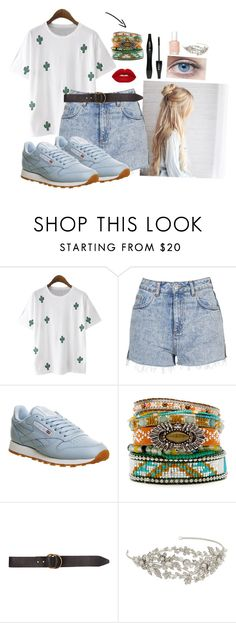 """""""Summer vibes """" by luludedid on Polyvore featuring mode, WithChic, Topshop, Reebok, Hipanema, Lancôme, Billabong, RTR Bridal Accessories et Essie"""