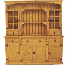 Corona Wood China Cabinet