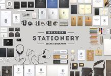 Photoshop Header Stationery Scene Generator