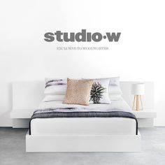 Crisp, clean and fresh! How about giving your bedroom a make over this Christmas with exquisite Studio-W range linens from Woolworths!