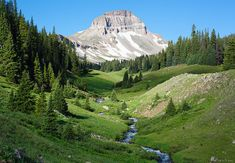 Uncompahgre Peak and Big Blue Creek - Uncompahgre Wilderness, Lake City, Colorado | Jack Brauer Photography