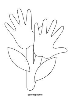 Hand flowers. These could work as an Earth Day activity for kids, talking about the way nature and humans are connected.