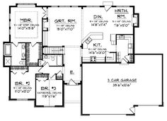ranch house plan 54075   ranch house plans