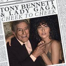 """""""Check to Cheek"""" de Tony Bennett and Lady Gaga. El álbum se originapor el deseo de Bennett y Gaga de introducir las canciones a una generación más joven, ya que se cree que las pistas tenían un atractivo universal. JAZZ"""