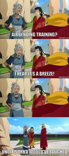 It does sound like something that Sokka would say... by it Sokka had said it I would have laughed