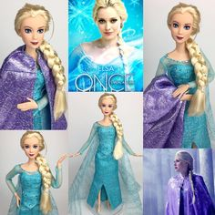 "1,193 kedvelés, 20 hozzászólás – Mario (@mmdisney200) Instagram-hozzászólása: ""Here is my Ooak Elsa doll from Once upon a time. I wanted Elsa to look like she was made by Barbie…"""