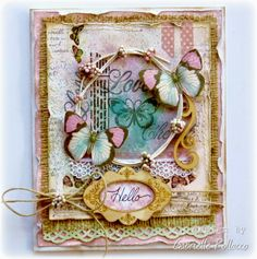 Such a Pretty Mess: Cardmaking with Bo Bunny's Primrose & Kraft Wood.  Gabrielle Pollacco
