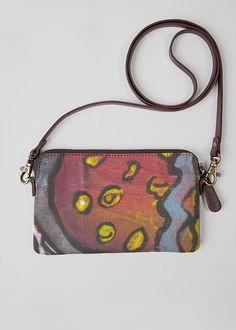 Leather Statement Clutch - Abstract Flower Pinks II by VIDA VIDA Q2ak6xj0h