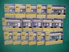 1 x vintage MEMOREX dBS 90 minute AUDIO CASSETTE TAPE bnip sealed