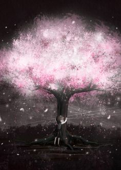 벚꽃 일러스트. cherry blossoms . illust
