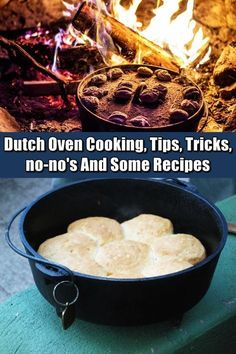 Dutch Oven Cooking, Tips, Tricks, no-no's And Some Recipes - There are a lot of benefits when it comes to purchasing a cast iron Dutch oven for the reason that it is not only long-lasting but at the same time it has superb heat retention. Cast Iron Dutch Oven, Cast Iron Cooking, Oven Cooking, Cooking Tips, Cooking Recipes, Cooking Classes, Skillet Cooking, Fire Cooking, Easy Recipes