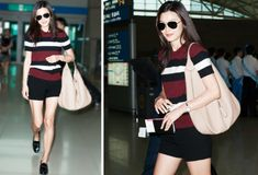 Gianna Jun as she said in My Love From Another Star, is admired for her airport fashions.