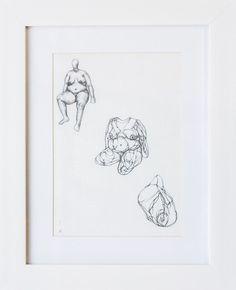 Estudio #3   Grafito / papel   32 x 26 cm [con marco]   2014