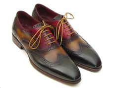 PAUL PARKMAN ® The Art of Handcrafted Men's Footwear - Paul Parkman Men's Three Tone Wingtip Oxfords (ID#PP22F75)