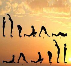 Surya Namaskar, the Sun Salutation- a deeper insight. Surya Namaskar or the Sun Salutation is considered the 'king' of asana practise. It is a beautiful weave of the physical, emotional… Vinyasa Yoga, Yoga Positionen, Yoga Meditation, Morning Meditation, Yoga Fitness, Sport Fitness, Fitness Routines, Physical Fitness, Fitness Tips