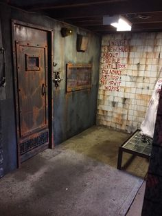 Asylum Halloween photo area